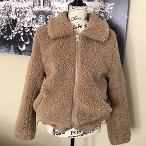 H&M Faux Fur Teddy Jacket Small (EUC)